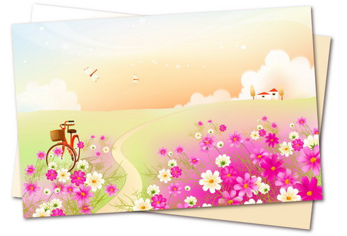 开满鲜花的小路 :装饰画素材网 datuku.net 最新潮的