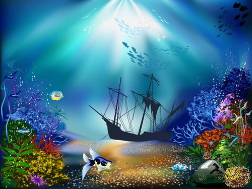 海底世界装饰画 :装饰画素材网