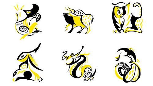 12生肖写意装饰画图片