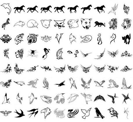 手绘动物黑白装饰画_手绘