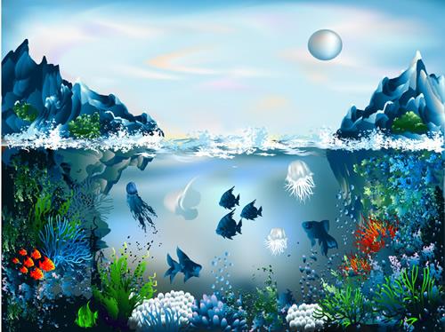 海底世界装饰画