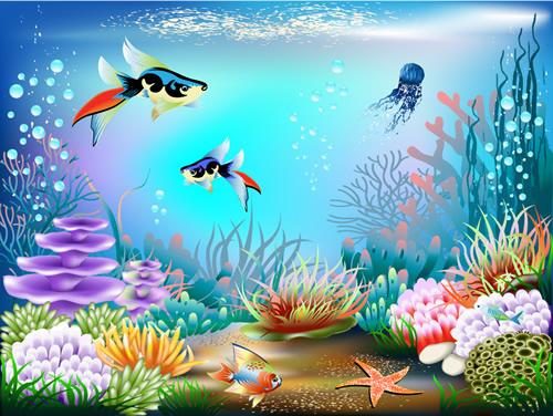 海底世界装饰画 :装饰画素材网 datuku.net 最新潮的