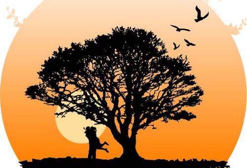 大树下的剪影 :装饰画素材网 datuku.net 最新潮的无