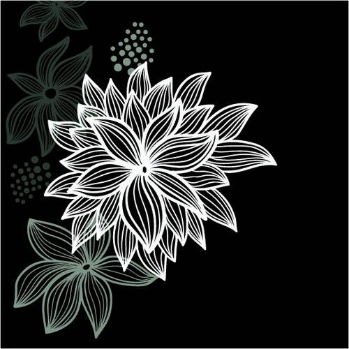 手绘黑白花纹_花纹黑白的陶瓷图片_黑白花纹动物_黑白花纹玻璃贴图